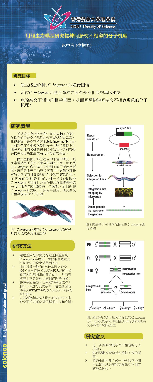 用线虫为模型研究物种间杂交不相容的分子机理